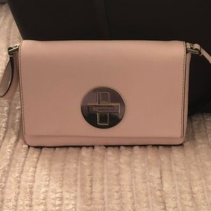 Kate Spade Crossbody Clutch pale pink